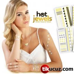 Hot Jewels Metalik Geçici Dövme